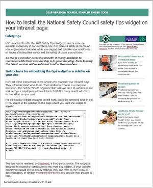 Safety Tip Widget