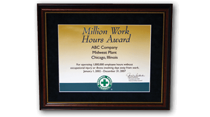 Million Work Hours Award